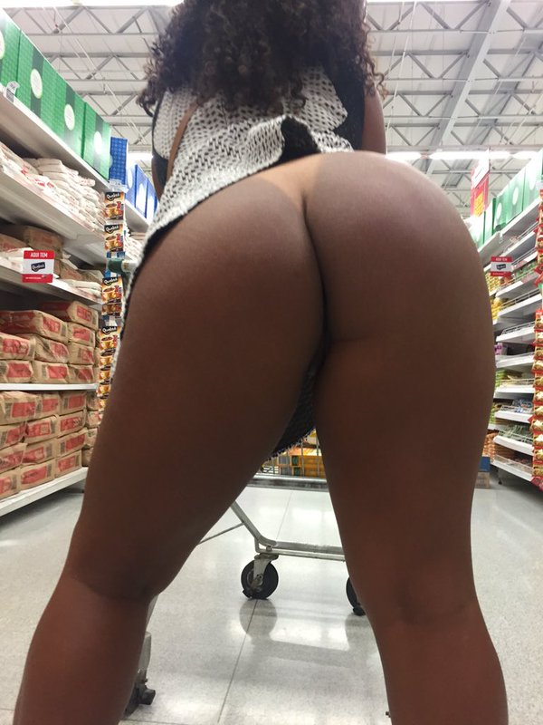 shopping naked