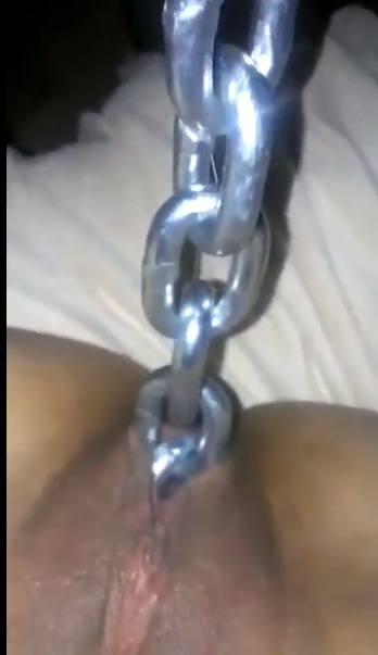 chain inside the pussy